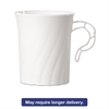 Classicware Plastic Mugs, 8 oz., White, 8/Pack, 24 Pack/Carton
