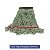Swinger Loop Wet Mop Heads, Cotton/Synthetic Blend, Green, Large, 6/Carton