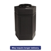 Safco Canmeleon Indoor/Outdoor Receptacle, Pentagon, Polyethylene, 30gal, Black