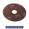 "Surface Preparation Pad, 18"" Diameter, Maroon, 10/Carton"