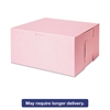 SCT Tuck-Top Bakery Boxes, 10w x 10d x 5h, Pink, 100/Carton