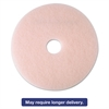 "3M Ultra High-Speed Eraser Floor Burnishing Pad 3600, 24"", Pink, 5/Carton"