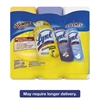 Disinfecting Wipes, Assorted Scents, 7 x 8, 35/Canister, 3/Pack