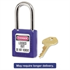Master Lock No. 410 Lightweight Xenoy Safety Lockout Padlock, 6 Pin, Blue