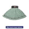 Rubbermaid Commercial Maximizer Microfiber Mop Heads, Medium, Green, 6/Carton