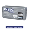 Medline FitRight Active Male Guards, 6 x 11, White, 52/Pack