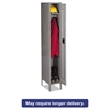 Single Tier Locker with Legs, 12w x 18d x 78h, Medium Gray