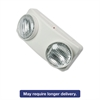 "Tatco Swivel Head Twin Beam Emergency Lighting Unit, 12 3/4""w x 4""d x 5 1/2""h, White"