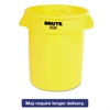 Rubbermaid Commercial Round Brute Container, Plastic, 20 gal, Yellow