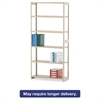 Regal Shelving Starter Set, Six-Shelf, 36w x 12d x 76h, Sand