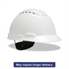 3M H-700 Series Hard Hat with 4 Point Ratchet Suspension, Vented, White