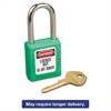 Master Lock No. 410 Lightweight Xenoy Safety Lockout Padlock, 6 Pin, Green