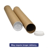 "Round Mailing Tubes, 12l x 2"" dia., Brown Kraft, 25/Pack"