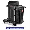 Rubbermaid Commercial Executive High Security Janitorial Cleaning Cart, 23-1/10 x 39-3/5 x 27-1/2, Blk