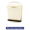 Rubbermaid Commercial Fire-Safe Pedal Rolltop Receptacle, Oval, Plastic, 14.5gal, Beige