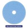 "Sky Blue Hi-Performance Burnish Pad 3050, 17"" Diameter, Sky Blue, 5/Carton"