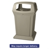 Rubbermaid Commercial Ranger Fire-Safe Container, Square, Structural Foam, 45 gal, Beige