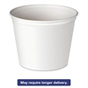 SOLO Cup Company Double Wrapped Paper Bucket, Waxed, White, 83oz, 100/carton