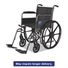 Medline Excel K1 Basic Wheelchair, 18w x 16d, 300lb Cap