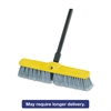 "Fine Floor Sweeper, Polypropylene Fill, 18"" Brush, 3"" Bristles, Gray, 12/Carton"