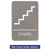 ADA Sign, 6 x 9, Stairs, Gray
