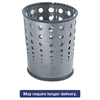 Bubble Wastebasket, Round, Steel, 6gal, Black Speckle