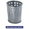 Bubble Wastebasket, Round, Steel, 6gal, Black Speckle