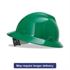 V-Gard Full-Brim Hard Hats, Ratchet Suspension, Size 6 1/2 - 8, Green