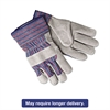 Select Shoulder Split Cow Gloves, Blue/Gray, Large, 12 Pairs