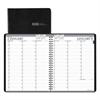Recycled Two-Year Professional Weekly Planner, 8 1/2 x 11, Black, 2017-2018