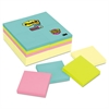 Post-it Note Pads Office Pack, 3 x 3, Canary/Miami, 90/Pad, 24 Pads/Pack