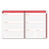 Color Play Weekly/Monthly Planner, 8 1/2 x 11, White/Red, 2017