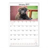 Puppies Monthly Wall Calendar, 15 1/2 x 22 3/4, 2017