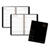 Contemporary Weekly/Monthly Planner, Block, 4 7/8 x 8, Black Cover, 2017