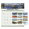 AT-A-GLANCE Landscape Monthly Wall Calendar, 12 x 12, 2017