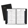 AT-A-GLANCE Weekly Appointment Book, Hourly Appointments, 4 7/8 x 8, Black, 2016-2017