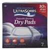 Medline Ultrasorbs Disposable Dry Pads, 23 x 35, White, 7/Box, 6/Carton