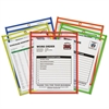 "C-Line Stitched Shop Ticket Holder, Neon, Assorted 5 Colors, 75"", 9 x 12, 25/BX"