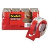 "Scotch 3750 Commercial Grade Packing Tape w/Disp, 1.88"" x 54.6yds, 3"" Core, Clear, 4/PK"