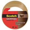 "Scotch 3750 Commercial Grade Packaging Tape, 1.88"" x 54.6yds, 3"" Core, Tan"