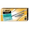 BIC Round Stic Xtra Precision & Xtra Life Ballpoint Pen, Black Ink, .8mm, Fine, DZ