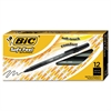 BIC Soft Feel Stick Ballpoint Pen, Black Ink, 1mm, Medium, Dozen