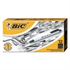 BIC Clic Stic Retractable Ballpoint Pen, Black Ink, 1mm, Medium, Dozen