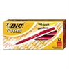 BIC Soft Feel Stick Ballpoint Pen, Red Ink, 1mm, Medium, Dozen