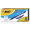 BIC Gel-ocity Retractable Gel Pen, Blue Ink, .7mm, Medium, Dozen