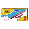 BIC Gel-ocity Retractable Gel Pen, Red Ink, .7mm, Medium, Dozen