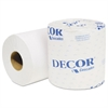 Cascades Decor Standard Bathroom Tissue, 1-Ply, 4 5/16 x 3 1/4, 1210/Roll, 80 Roll/Carton
