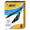 BIC Gel-ocity Retractable Gel Pen, Black Ink, Medium, .7mm, 24/Pack