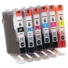 Canon 4705A018 (BCI-6) Ink, Assorted, 6/PK