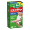 Curad QuickStop Flex Fabric Bandages, 3/4 x 2.83, 30/Box